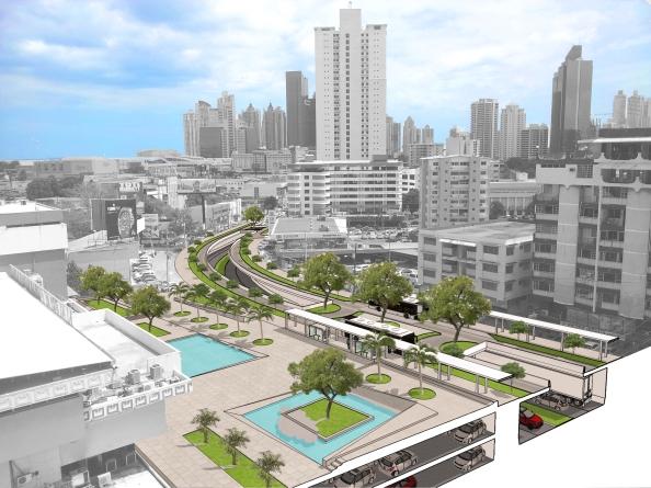 Mejoras paisajísticas, estacionamientos y vías soterradas para una mejor conectividad peatonal en superficie.