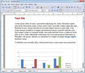 Captura de pantalla Libre Office