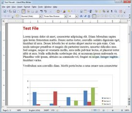 Captura de pantalla Libre Office