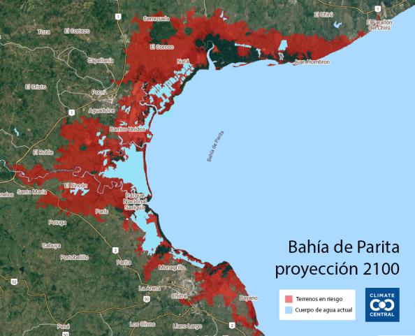 Provincias centrales escenario pesimista 2100 Climate Central